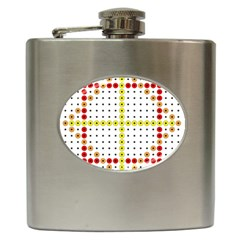 Vertical Horizontal Hip Flask (6 oz)