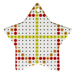 Vertical Horizontal Star Ornament (Two Sides)