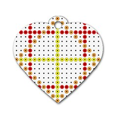 Vertical Horizontal Dog Tag Heart (One Side)