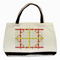 Vertical Horizontal Basic Tote Bag (Two Sides)