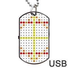 Vertical Horizontal Dog Tag USB Flash (One Side)