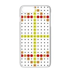 Vertical Horizontal Apple iPhone 7 Plus White Seamless Case