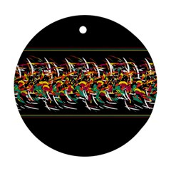Colorful barbwire  Ornament (Round)