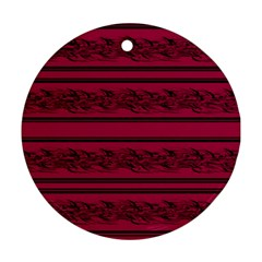 Red barbwire pattern Ornament (Round)