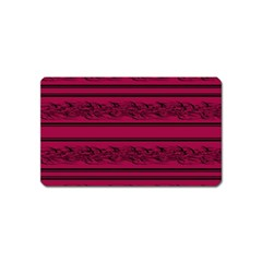 Red barbwire pattern Magnet (Name Card)