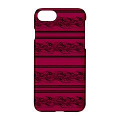 Red Barbwire Pattern Apple Iphone 7 Hardshell Case