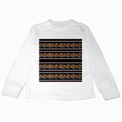 Colorful Barbwire Kids Long Sleeve T Shirts