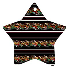 Colorful barbwire Star Ornament (Two Sides)