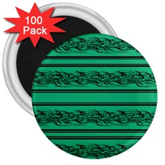 Green Barbwire 3  Magnets (100 Pack)