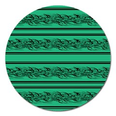 Green barbwire Magnet 5  (Round)