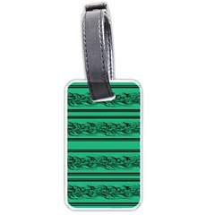 Green barbwire Luggage Tags (One Side)