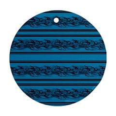 Blue barbwire Ornament (Round)