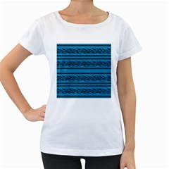 Blue barbwire Women s Loose-Fit T-Shirt (White)