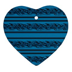 Blue Barbwire Heart Ornament (2 Sides)