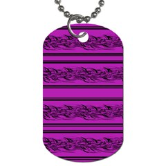 Magenta barbwire Dog Tag (One Side)