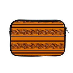 Orange Barbwire Pattern Apple Macbook Pro 13  Zipper Case