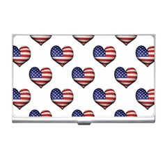 Usa Grunge Heart Shaped Flag Pattern Business Card Holders