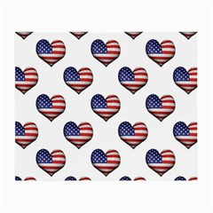 Usa Grunge Heart Shaped Flag Pattern Small Glasses Cloth