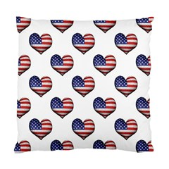 Usa Grunge Heart Shaped Flag Pattern Standard Cushion Case (Two Sides)