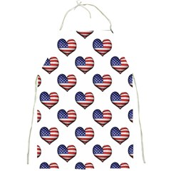 Usa Grunge Heart Shaped Flag Pattern Full Print Aprons