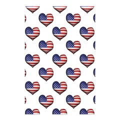 Usa Grunge Heart Shaped Flag Pattern Shower Curtain 48  x 72  (Small)
