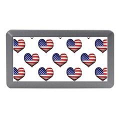 Usa Grunge Heart Shaped Flag Pattern Memory Card Reader (Mini)