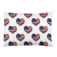 Usa Grunge Heart Shaped Flag Pattern Pillow Case (Two Sides)