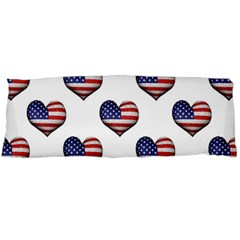 Usa Grunge Heart Shaped Flag Pattern Body Pillow Case Dakimakura (Two Sides)