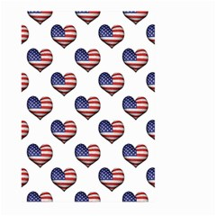 Usa Grunge Heart Shaped Flag Pattern Large Garden Flag (Two Sides)