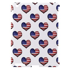 Usa Grunge Heart Shaped Flag Pattern Apple iPad 3/4 Hardshell Case (Compatible with Smart Cover)