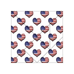 Usa Grunge Heart Shaped Flag Pattern Acrylic Tangram Puzzle (4  x 4 )