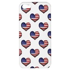 Usa Grunge Heart Shaped Flag Pattern Apple iPhone 5 Hardshell Case