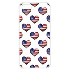 Usa Grunge Heart Shaped Flag Pattern Apple iPhone 5 Seamless Case (White)