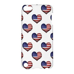 Usa Grunge Heart Shaped Flag Pattern Apple iPod Touch 5 Hardshell Case