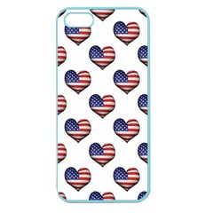 Usa Grunge Heart Shaped Flag Pattern Apple Seamless iPhone 5 Case (Color)