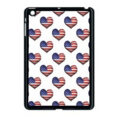 Usa Grunge Heart Shaped Flag Pattern Apple iPad Mini Case (Black)