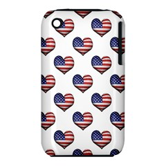 Usa Grunge Heart Shaped Flag Pattern iPhone 3S/3GS