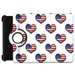 Usa Grunge Heart Shaped Flag Pattern Kindle Fire HD 7