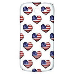 Usa Grunge Heart Shaped Flag Pattern Samsung Galaxy S3 S III Classic Hardshell Back Case