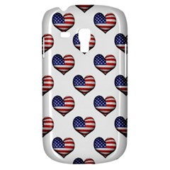 Usa Grunge Heart Shaped Flag Pattern Galaxy S3 Mini