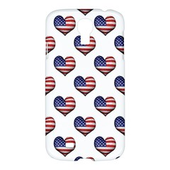 Usa Grunge Heart Shaped Flag Pattern Samsung Galaxy S4 I9500/I9505 Hardshell Case