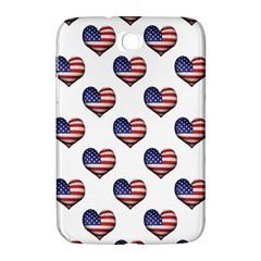Usa Grunge Heart Shaped Flag Pattern Samsung Galaxy Note 8.0 N5100 Hardshell Case