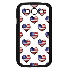 Usa Grunge Heart Shaped Flag Pattern Samsung Galaxy Grand DUOS I9082 Case (Black)