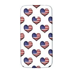 Usa Grunge Heart Shaped Flag Pattern Samsung Galaxy S4 I9500/I9505  Hardshell Back Case