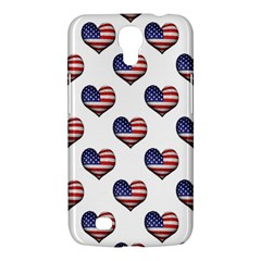 Usa Grunge Heart Shaped Flag Pattern Samsung Galaxy Mega 6.3  I9200 Hardshell Case