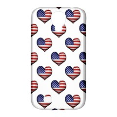 Usa Grunge Heart Shaped Flag Pattern Samsung Galaxy S4 Classic Hardshell Case (PC+Silicone)