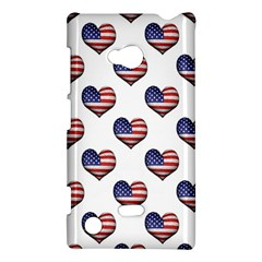 Usa Grunge Heart Shaped Flag Pattern Nokia Lumia 720