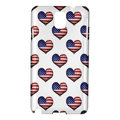 Usa Grunge Heart Shaped Flag Pattern Samsung Galaxy Note 3 N9005 Hardshell Case