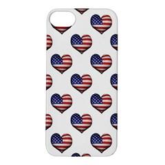 Usa Grunge Heart Shaped Flag Pattern Apple iPhone 5S/ SE Hardshell Case