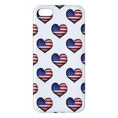 Usa Grunge Heart Shaped Flag Pattern iPhone 5S/ SE Premium Hardshell Case